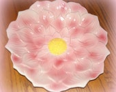 Vintage Pink Flower Bowl.  Large in Size. Marshall Field's. Chicago IL. Petal Design