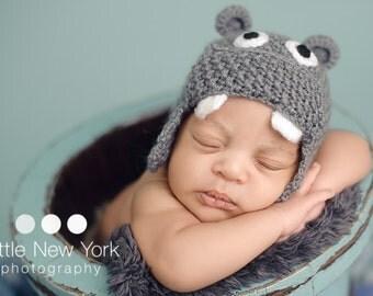 Newborn photo prop, newborn boy, newborn girl, newborn hat, newborn hippo hat, baby hat, newborn knit hat, newborn props, baby hippo hat