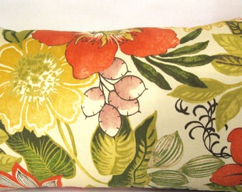 Swavelle/Mill Creek Indoor/Outdoor Jolene Floral Ivory Pillow Cover 14  X 24""