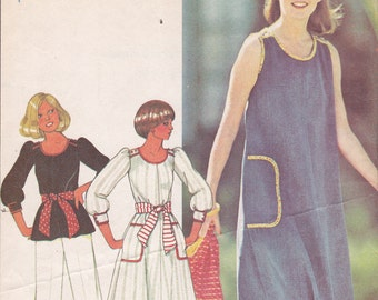 McCall 5506 Size 18 Bust 40  pullover Dress Jumper Top Pants from 1977 Uncut sewing pattern