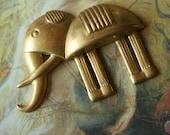 Vintage Unique Deco Old Brass Elephant Piece