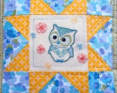 Have A Hoot / Vintage Inspired Embroidery and Cushion (PDF) Pattern