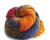 "Merino Stellina Sparkle Sock Yarn Hand Dyed Wool  ""Babylonia"" - UK Seller"