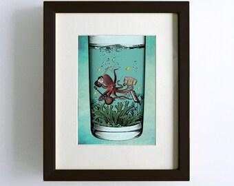 Musical Octopus Print