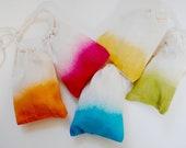 Colorful favor bags cotton drawstring totes set of 20 Ombré  you choose your colors