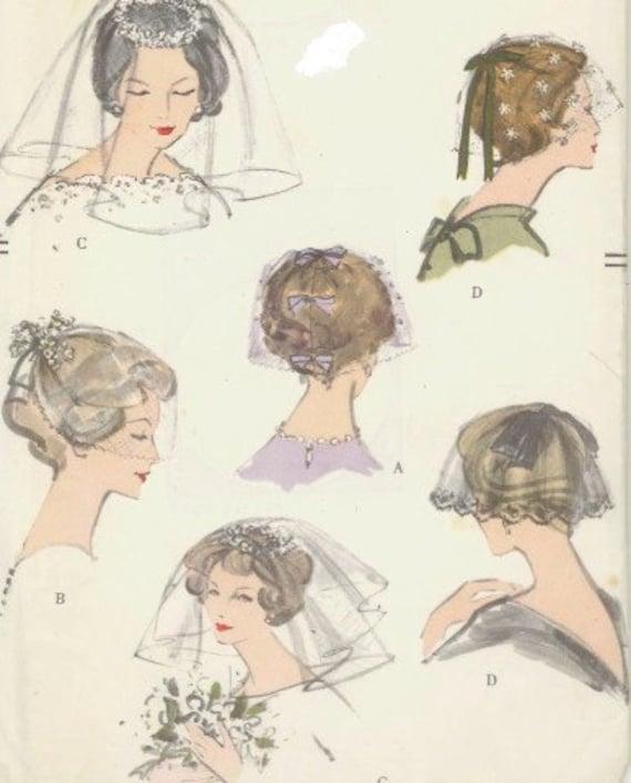 Vintage 1950s Vogue 9568 Wedding Veils