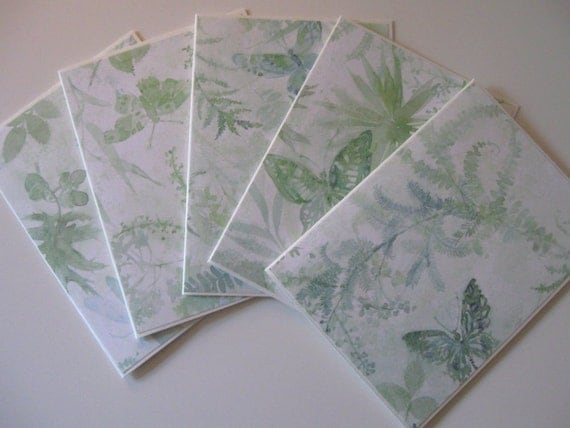 Cyber Monday Etsy Free or Reduced Shipping Blank Note Cards Set of 5 Nature Themed Ready to Ship