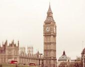 "London Photography, Big Ben, large photography, travel print - ""London Skies"""