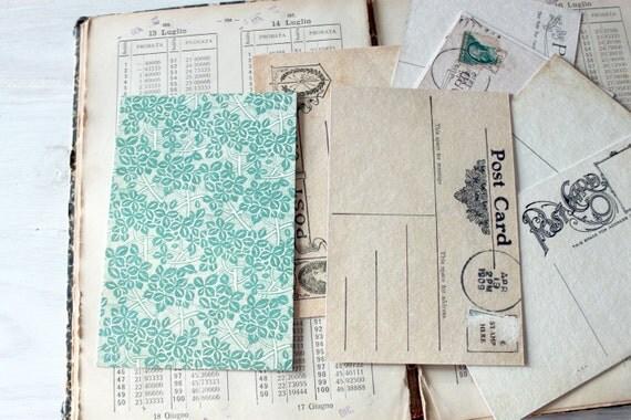Vintage wallpaper inspired postcard set - The Wallpaper Suite - Set of 8 postcards
