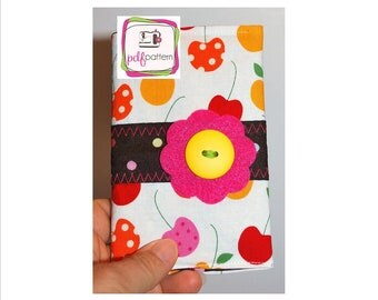 pdf Mini Composition Notebook Cover Sewing pattern - INSTANT DOWNLOAD!!!