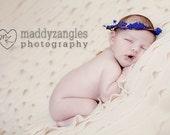 Purple Flower Newborn Crown