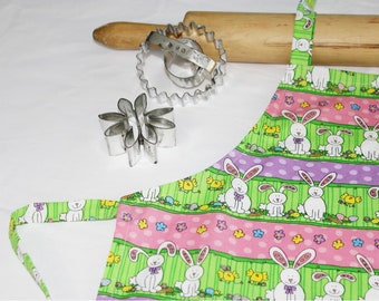 Easter Bunnies Child Apron