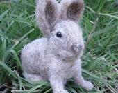 Needle Felted Rabbit, Needle Felted Bunny Baby, Rabbit Art Soft Sculpture