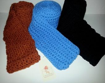 Solid Crochet Scarf