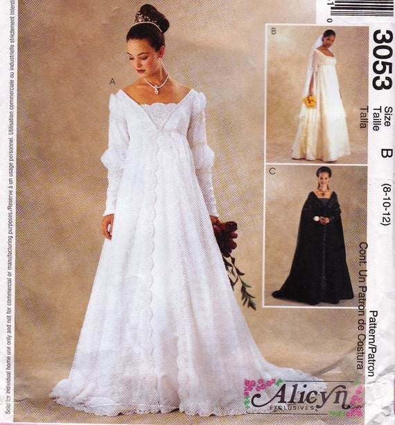 McCall's 3053 Renaissance Costume Bridal Bridesmaid Gown Alicyn Exclusives Sz 8 10 12 Medieval