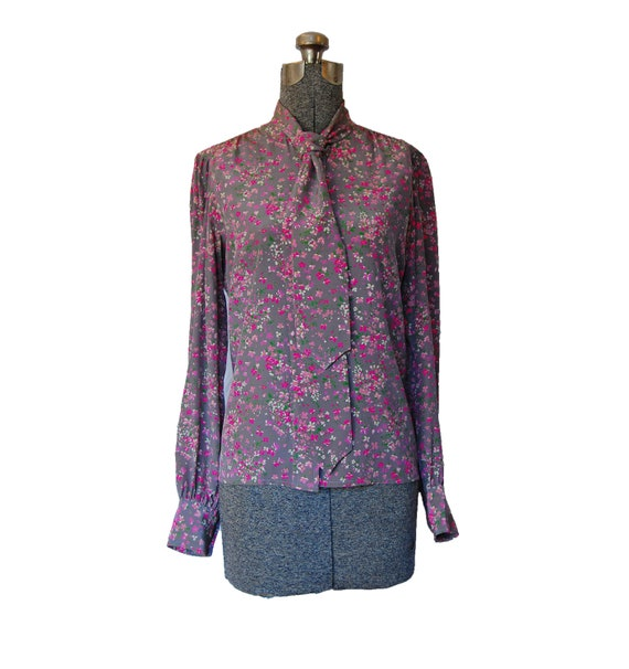 Ysl Purple Peasant Blouse 11