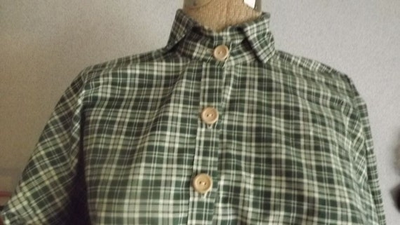 Mens Civil War Homespun Plaid Shirt Size S to  XXXL