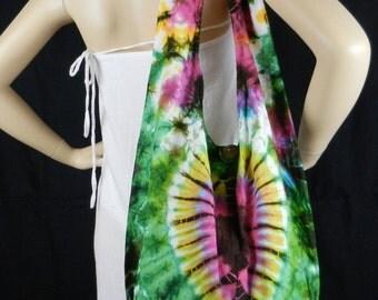 Heart Tie Dye Bag Purse Hobo Hippie Sling Messenger Crossbody Shoulder Top Zip OAK XL VB4