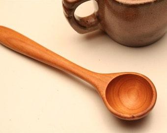 Long handled wooden coffee scoop measuring spoon 1 tablespoon ,  cookie  dough scoop , deep bin coffee scoop , handmade , food prep