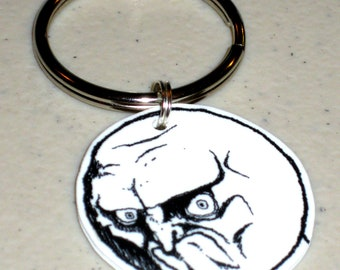 Nope Face - Internet Meme Keychain, Cell Phone Charm, Necklace, Earrings