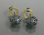 The 3D laurel earring-sterling silver (Ready to ship)