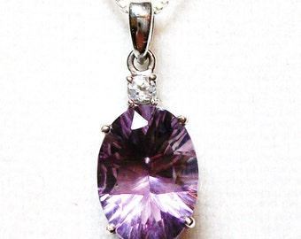 "Fluorite pendant, purple pendant, purple necklace,    ""Date Night"""