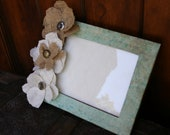 Burlap Picture Frame   Upcycled