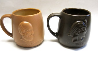Hippocrates Imhotep Father Doctor Of Medicine Tea Mugs Set Of Two Coffee Cups