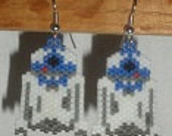 BEADING PATTERN Robot hand beaded earrings Pattern