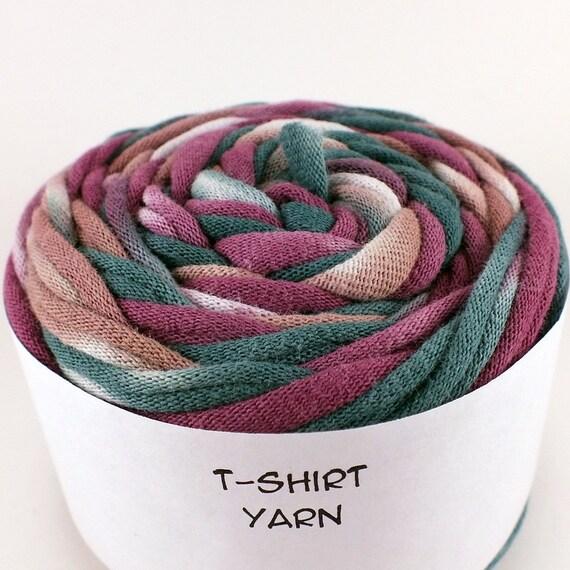 Cotton Tshirt yarn, Fall Tie Dye, 24 yards, 6 wpi