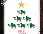 Christmas Cards Hanukkah Cards Buffalo Holiday Cards You Pick 6 Pack