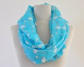 Scarf Women's Scarf Cotton Long Scarf Aqua Tiffany Blue Pelikan Gift for Her