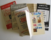 1970 era Stamp Collection Catalogs And Guides And Harris Stamp Wallet