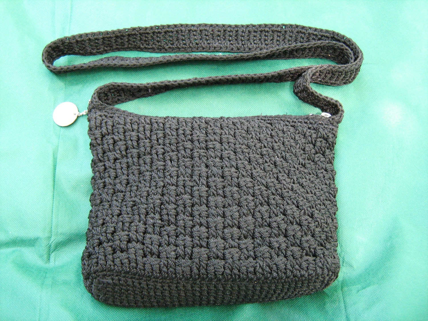 The Sak Black Crochet Handbag : The Sak Black Crochet Cross-Body Shoulder Bag by LydiaJaneVintage