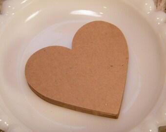 "100 Large Heart Gift Tags / Escort Cards / Scrapbooking -Kraft Eco-friendly Cardstock DIY -Wedding Wish Tree Cards 2 3/4"""