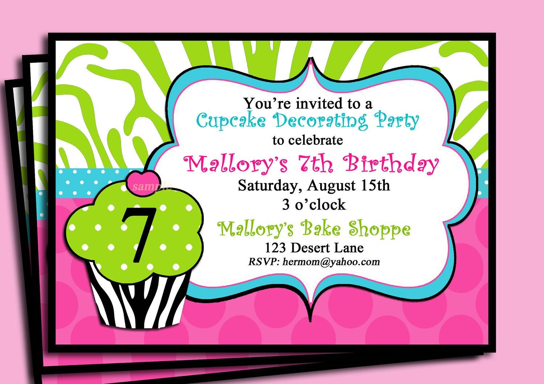 Zebra cupcake invitation printable or printed with free zoom stopboris Gallery