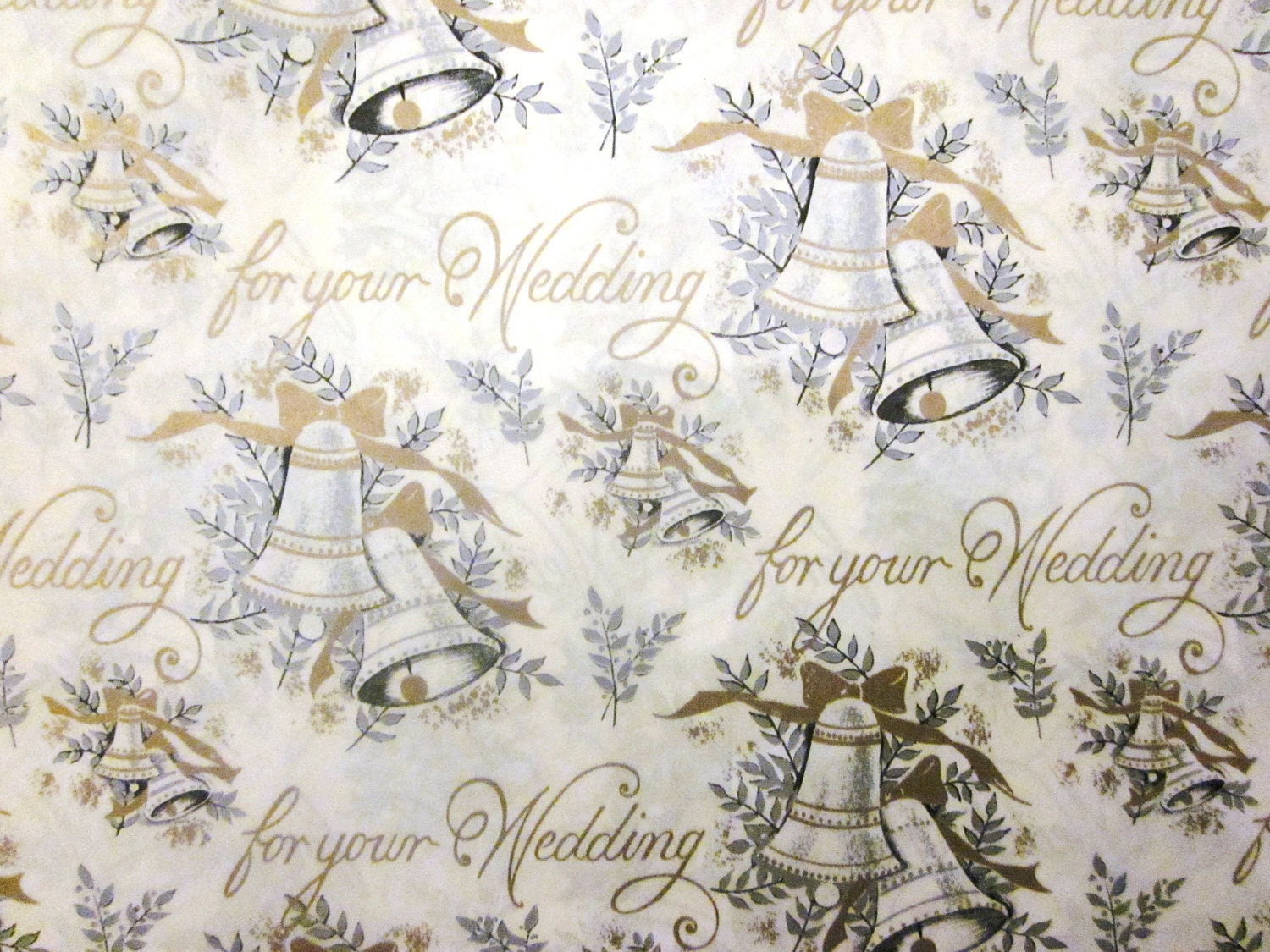 Wedding Gift Paper: Vintage Wrapping Paper For Your Wedding Full Sheet