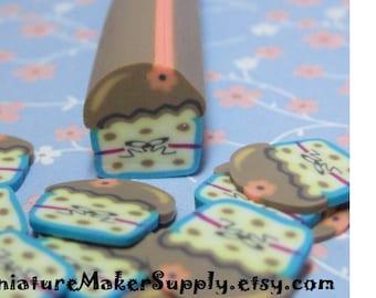 Big Cupcake Polymer Clay Cane 10mm DIY Miniature Sweets Fimo Cane Large Kawaii Decoden