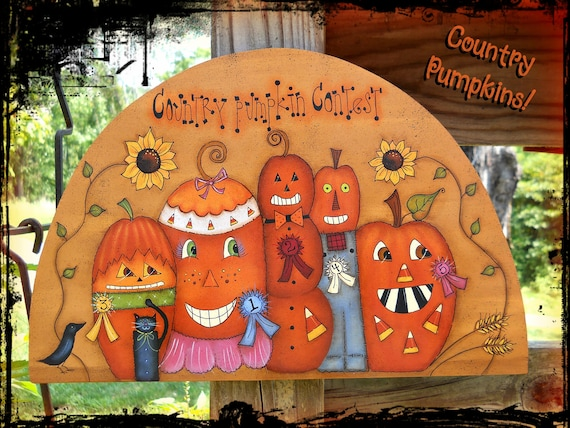 E PATTERN - Country Pumpkin Contest - Designed by Terrye French & Painted by me, Sharon B. - FAAP