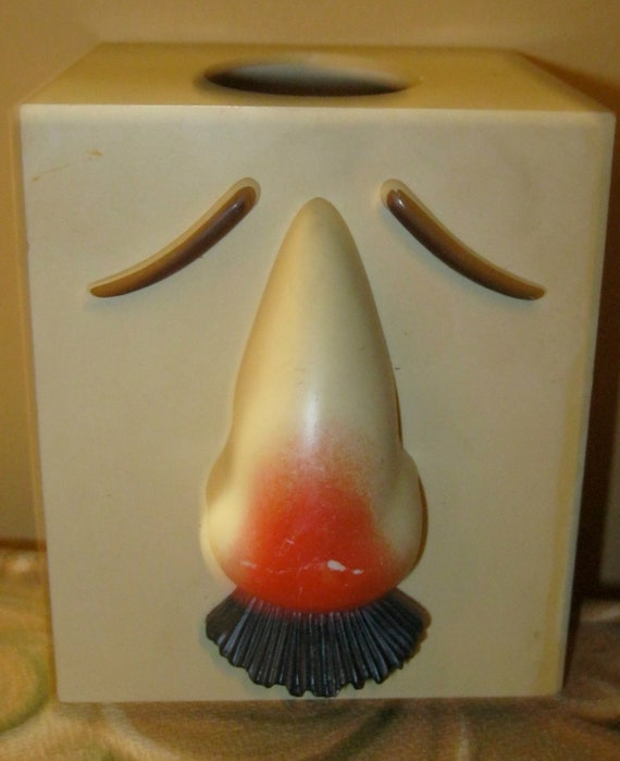 Funny Tissue Holder 70s Man With A Cold Tissue Holder Gag