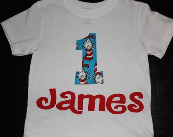 Dr Seuss Birthday Shirt
