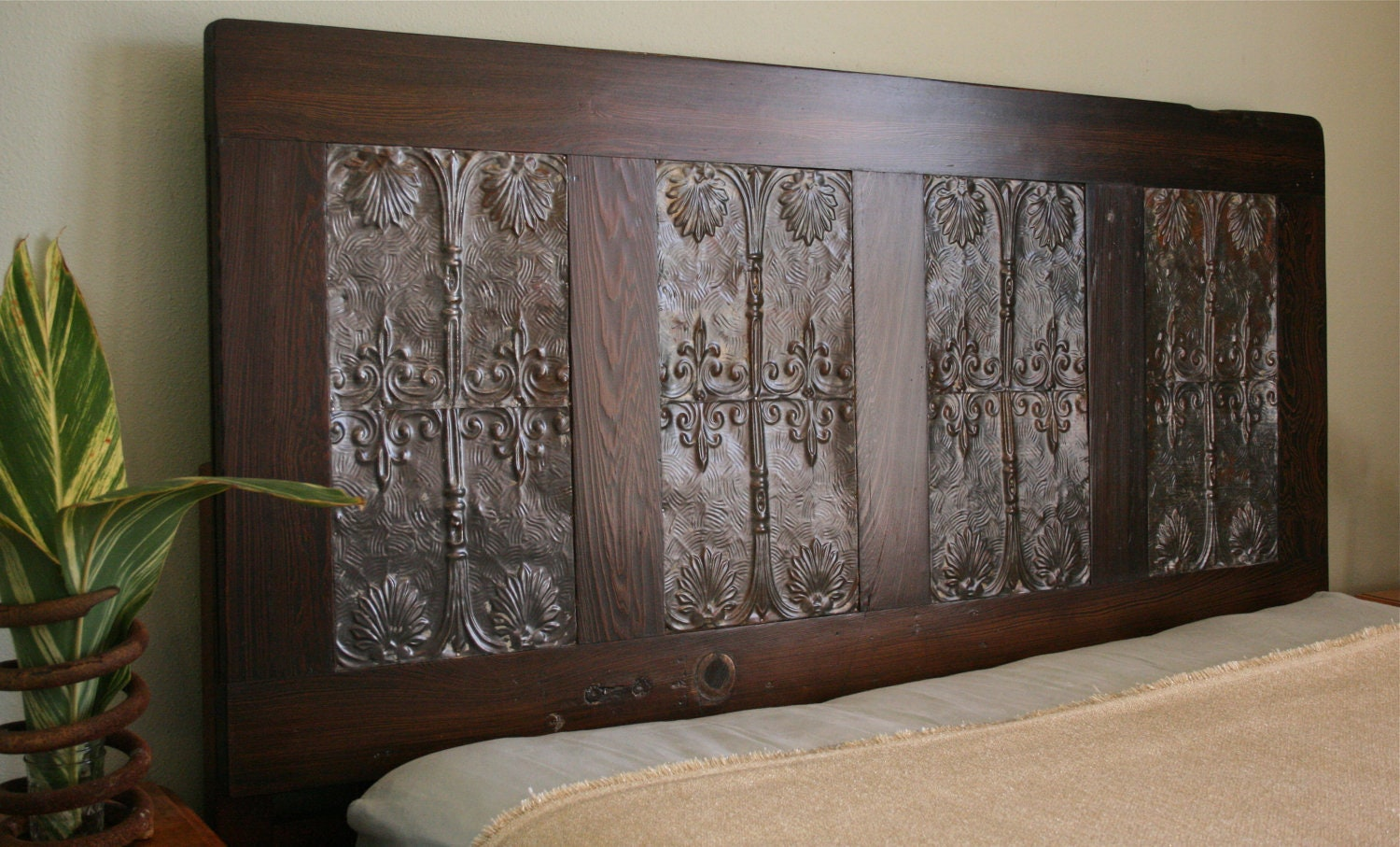 Items Similar To Queen Headboard Made From Reclaimed Door