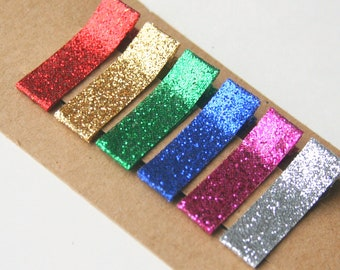 Glitter Hair Clips, Baby Hair Clips, Sparkle hair clips for Baby, Christmas hair clips for baby, infant hair clip, toddler clips, adult