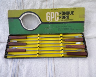Fondue Forks, original box, kitchen collectibles