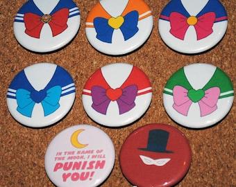 Sailor Moon Pin 8 Pack