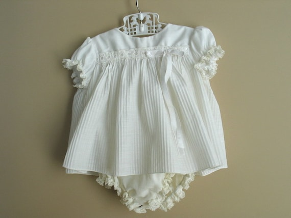 Reserved fpr Quetzalli de los Angeles   Vintage Baby Girl Ivory Christening Party Dress 1960