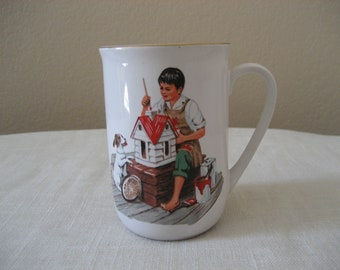 Vintage Museum Collections Norman Rockwell Mug A Dollhouse For Sis