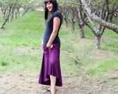 large/xtra large PLUM jersey knit maxi skirt