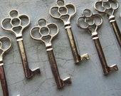 Clervaux Skeleton Key in Antique Silver - Set of 10