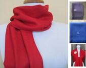Red Pashmina Scarf, Shawl, Wrap, bridal shawl, bridesmaids shawl, bridal gift
